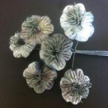 Vintage Velvet Blossoms Pewter